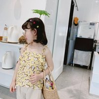 Vest Girls 2021 Spring Cotton Casual Leopard Broadcloth Camisole Lovely Shirt 2 Color