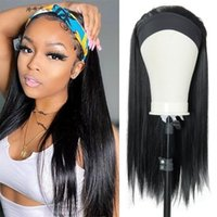 Synthetic Wigs Straight Hair Headband Wig 20 Inches Body Wavy Long For Black Women Afro Curly