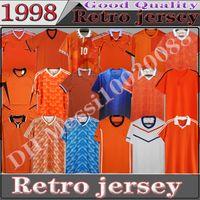 네덜란드 레트로 축구 유니폼 1988 1996 2002 2010 2014 년 # 12 van basten # 10 Gullit # 17 Rijkaard 1998 # 8 Bergkamp 축구 셔츠 1995 년 1991