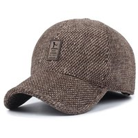 Shade TUNICA Woolen Knitted Design Winter Baseball Cap Men Thicken Warm Hats with Earflaps