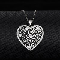S925 Sterling Silver Necklace Heart-shaped Women's Beifeng Fashion Love Modeling Jewelry Pendant