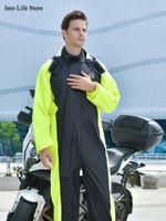المعاطف المطر المعطف المعطف الرجال المعطف النساء للماء السراويل السوداء مجموعة طويلة كامل الجسم دراجة نارية الكهربائية سيارة معطف التخييم في الهواء الطلق