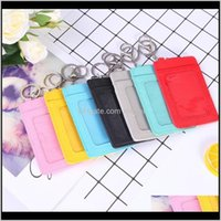 Bags Storage Housekeeping Organization Home & Garden Drop Delivery 2021 Pu Leather Bag 3 Card Positions Cardholder Key Chain Aessories Mens C