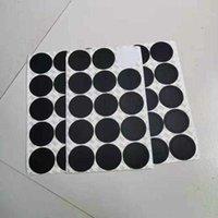 Autoadesivo della tazza autoadesiva della tazza di gomma nera della decorazione della casa creativa per 15 once. 20 oz. 30 oz. Protezione del vetro Tappetino antiscivolo