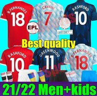 21 22 Ronaldo Sancho Jerseys Bruno Fernandes Utd Pogba Rashford Camisa de Futebol 2021 2022 Homem Adulto Kit Kit Juventude Meninos Lindelof James