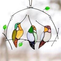 25 # 1pc specie di uccelli con pendente macchiato finestra appesa a suncatcher uccelli acrilici uccelli a vento Chimes decorazioni giardino