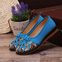 shoe 2021 summer with soft background breathable knit woman zapatos of mujer women flat shoes FW8S