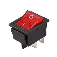 스마트 홈 컨트롤 레드 라이트 조명 4 핀 DPST ON / OFF 스냅 스냅 스위치 16A 20A 250V AC