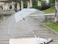 50pcs 명확한 투명 거품 깊은 돔 비 우산 험담 소녀 바람 저항 버섯 우산 모양 웨딩 파티 장식