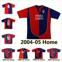 1990 1992 2003 2003 2004 2005 Cagliari Calcio Soccer Jerseys 03 04 05 ريترو Suazo Zola Conti Gobbi Godin Joao Pedro Marin Simeone Sottil Pavoletti Maglie Da Football Commet