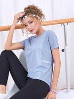 LUSURE T-shirt Séchage rapide Femme Summer Running Running Yoga T-shirt Casual T-shirt Sports Rond Col Fitness Tissu1