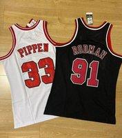 Homens Stitched Basketball Jerseys Chicago33 Scottie Pippen 91 Dennis Rodman Mitchell Ness 1997-98 Hardwoods Classics Retro Finals Jersey e apenas Don Shorts