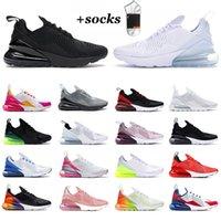 Nike Air Max Airmax 270 OFF White 남성 여성 정통 운동화 올 화이트 트리플 블랙 베어 리 로즈 핑크 쿨 그레이 사육 브라운 남성 여성 스포츠 운동화 트레이너 야외 활동 신발