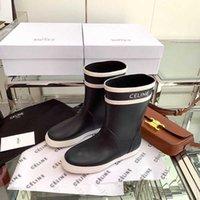 سيلين * أحذية المطر y موسم برهان المياه المرأة متوسطة أنبوب سميكة أسفل المدخنة نمط البريطاني مارتن الأحذية