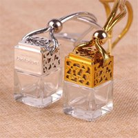 Car Air Freshener Auto Hanging Perfume Pendant Fragrance Empty Glass Bottle Decoration Ornament Accessories Interior