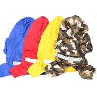 Dog Apparel Rain Coat Clothes Camouflage Printed Casual Waterproof Jacket Costumes Outerwear For Small Dogs Puppy Product Supplies Pets