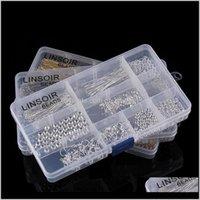 Andere DIY-Erkenntnisse Zubehör Kit Box Set Ohrhaken Crimp Endkappe Jump Ringe Hummerschließe Pins Werkzeuge für Schmuckherstellung F2972 QMQY3 GY5UM