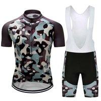 2021 Men Cycling Jersey Shirt Bike Bib Shorts Short Set Camouflage Team Clothing Kits