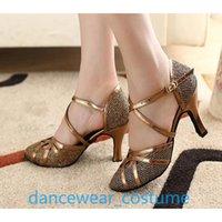 Sandals Ew Ladies Practice Performance Heels Women Party Ballroom Latin Tango Modern Samba Rumba Salsa Dance Shoes US5-9