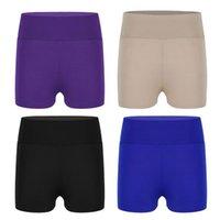 Shorts garoto garota elástica cintura esporte fundos para ballet dance yoga gymnastic workout crianças menino-corte activewear dancewear