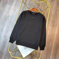 Unisex 21ss A maioria de boa qualidade Meatshirt marca de lazer camisas invertidas triângulo letra bordado importado material de algodão de mangas compridas