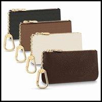 Mode Luxurys Designer Frankreich Stil Münzbeutel Männer Frauen Dame Leder Münze Geldbörse Schlüsselband Mini Brieftaschen Kreditkarten Brieftasche Seriennummer M62650