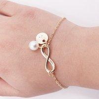 Los anillos de compromiso de los pendientes del diseñador, las pulseras y los collares de oro son favoritos de las mujeres pulseras de encanto de 8 caracteres de moda simple de 8 caracteres 26 en inglés letra