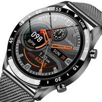 Mens Smart Watch Steel Band Fitness Watch Heart Rate Blood Pressure Activity Tracker Smart Watch For Men