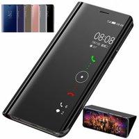 Smart Lustro Flip Leather Phone Case dla OPPO A72 A52 A32 A15 Ochrona ochrony przed OPPO A31 A8 A92 A53 2020 Przypadki Capa