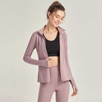 Lulu Yoga Sports Top Long Sleeve fitness clothes women's zipper loose elastic thin running fast dry coat