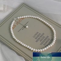 ASHIQI Natural Freshwater Pearl Chokers Necklace 925 Sterling Silver Jewelry for Women 2021 Gift New Fashion Factory price expert design Quality Latest