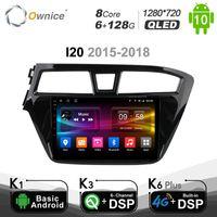 """Carplay 6G + 128G DSP 9 """"Android 10.0 자동차 DVD 플레이어 Autoradio, I20 2021-2021 4G LTE 네비게이션 GPS SPDIF RDS 라디오"""