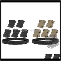 Поддержка талии IPSC USPSA IDPA конкуренция Высокая скорость съемки Внутренний внешний ремень W 5x Fast D Pistol Magazine Pouch Mag Carrier Colver1 BimyQ