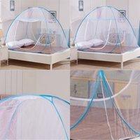 Hot Home Travel Outdoor Mosquito Net para cama Instalação grátis fundo dobrável dobrável única porta única rainha king size tamanho 647 s2