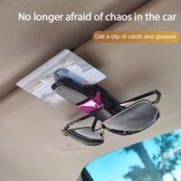 Interior Decorations Dropship Car Sunglasses Holder Sun Glasses Clip Auto Sunglass Organizer Glass Storage Eyeglass Stand Case