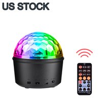 9 Color Bluetooth LED Effects Stage Lights DJ Rotating Crystal Magic Ball Light Sound Activated Lighting with Remote Control MP3 Play and USB for KTV Club Pub Show