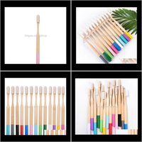 Electric Toothbrushes Replacement Heads Personal Care Household Appliances Drop Delivery 2021 Natural Bamboo Color Cylindrical Toothbrush Iss