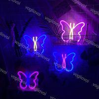 LED Neonzeichen SMD2835 Indoor Nachtlicht Ins Schmetterlingsmodell mit Batterie BPX Urlaub Weihnachtsfest Party Hochzeit Dekorationen Tischlampen Eub
