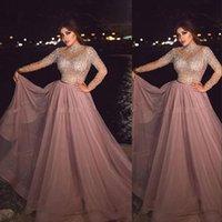 이브닝 드레스 2016 섹시한 아랍어 높은 목 부르고뉴 포도 레이스 아플리케 크리스탈 골치 아픈 건의 케이프 공식적인 두바이 Abaya 저렴한 파티 드레스 파티 드레스