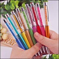 Pens Supplies Business & Industrial Crystal Ballpoint Fashion Creative Style Touch For Writing Stationery Office School Pen Ballpen Black In