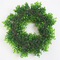 Decorative Flowers & Wreaths Simulation Green Rose Wall Hanging Plant Rattan Vine Plastic Flower Fake