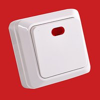 Smart Home Control Wall Switch 10A Eu 1Gang 1 Way Installed Directly Push Button Light PC Frame Panel On Off Lamp