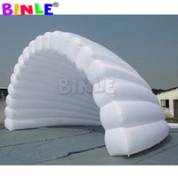 Outdoor white inflatable stage cover tent giant shell dome air roof marquee for music concert event