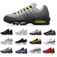 Max 95 ESSENTIAL 95 20th Anniversary Neon Mens Running Chaussures Designer de sport 95 formateurs hommes Zapatos Sneakers chaussures Taille 12