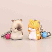 Carino timido Cat Keychains Chubby Kitten Portachiavi Borsa da gingillo Ornamento Cartoon Keys Cains Moda Donna Accessori per gioielli