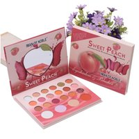 IMan Of Noble Professional Makeup 18 Colors Eyeshadow & 4 Color Blusher, Sweet Peach Eye Kyshadow Palette, Matte and Shimmer