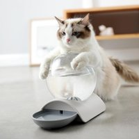 Cat Bowls & Feeders 47@ Bubble Ball Pet Dog Fountain Automatic Feeder For Kitten Water Drinking Bowl Feeding Container