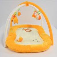 Tapetes playmats eco-friendly rastreamento macio algodão redondo bebê brincar tapete educacional brinquedo