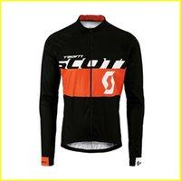 Scott Team Cycling Mangas largas Jersey Hombres Camisa de manga larga Ropa de bicicleta en Otoño Desgaste cómodo transpirable