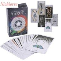 Jul Halloween Party Favor Game Tarot 16 Stilar Tarots Häxa Rider Smith Waite ShadowsCapes Wild Board Cards Colorful Box English Version